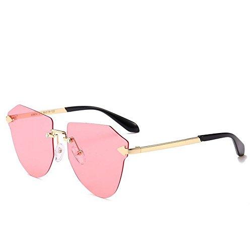 JUNHONGZHANG Gafas De Sol Polarizadas Gafas De Moda De Metal Gafas De Sol  Sin Marco Gafas 702ee3e1e2da