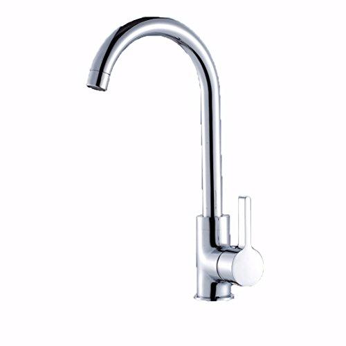 Preisvergleich Produktbild ZHGI Küche Wasserhahn Rotary Waschbecken Armatur Waschbecken wasserhahn Kupfer T-Stück Big Bend