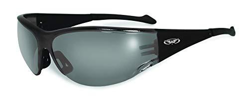 Motorrad-Sonnenbrille / bikerbrille mit Gummi Trinkgeldes Bögen für ein leichtes Einführen Während das Tragen eines Helmes mit kostenlosem Mikrofaser-Beutel