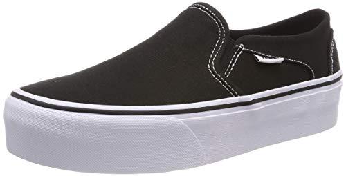 Vans Asher Platform, Zapatillas para Mujer, Negro ((Canvas) Black 3sy), 38 EU