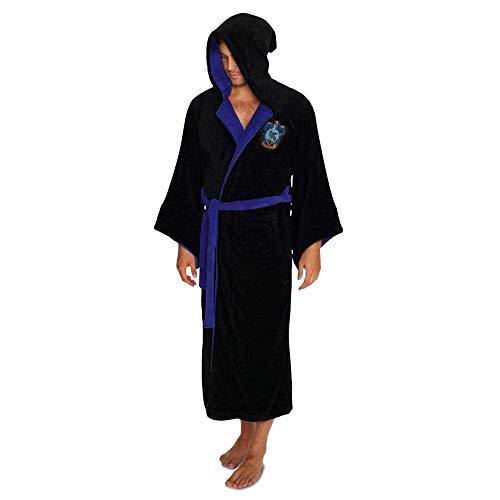 Harry Potter Offizielle Ravenclaw Wizard Fleece Bademantel Bademantel - Einheitsgröße (Fleece-schlafanzug Erwachsene)