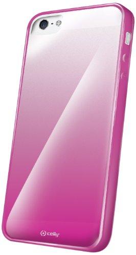 Celly Sunglasse Schutzhülle mit Displayschutzfolie für Apple iPhone 5/5S, Rosa
