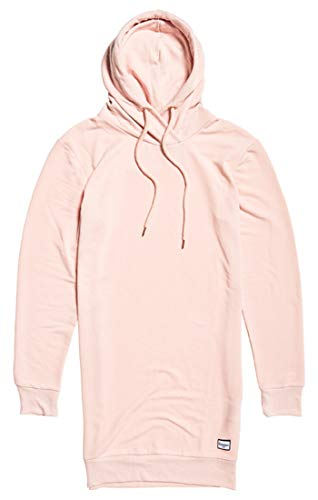 Superdry Supersoft Sweat Dress Robe, Rose (Powder Pink Mup), Large (Taille Fabricant: 14) Femme