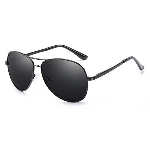 Ppy778 Aviator Polarized Sonnenbrillen Herren , UV 400 Schutzrahmen aus Metall (Color : Silver)