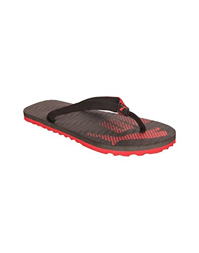 Puma Unisex Miami 6 DP Black High Risk Red Floaters and Flip Flops-7 UK  available at amazon for Rs.350