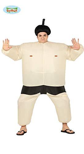 Sumo Ringer aufblasbar - Kostüm für Herren ^Karneval Fasching Party lustig Japan JGA Gr. M/L, - Sumo Kämpfer Kostüm