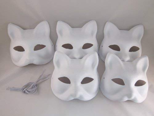 Tick Nick Hope You're Painting Fun Everyone! Set of 5 / Costume Fancy Dress Cosplay Tool DIY Handmade mask mask mask Summer Festival White Fox Mask Deals (Japan Import) by