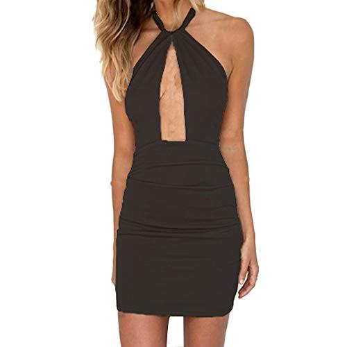 Vovotrade Vestito da Donna con Spalle Scoperte Mini Abito Corto Abito da Sera Fasciatura Bodycon Dress