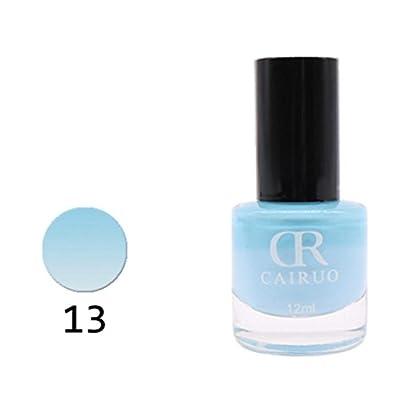 Xshuai 12ml Temperation Change Nail Polish Color Changing With Thermal DIY Nail Art Health Nontoxic Nail Oil For Teens Women 26 Color