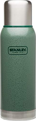 Stanley Adventure Vakuum-Thermosflasche 1 Liter, Hammertone Green, 18/8 Edelstahl, integrierter Thermobecher, Doppelwandige Isolierung, Isolierflasche Thermoskanne