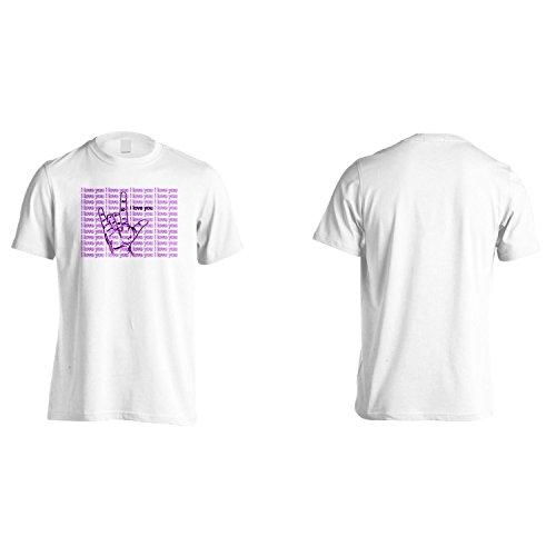 Ti Amo Consegnare Dita Novità Gesti Uomo T-shirt a447m White