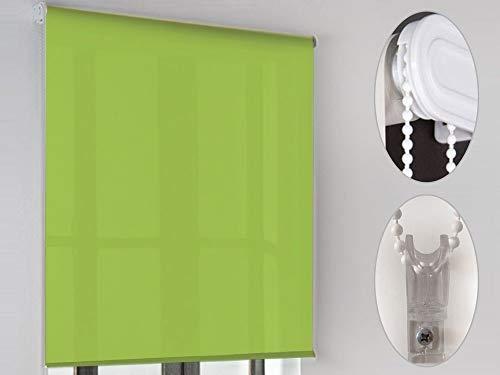 "MD - Estor enrollable ""lcc"" poliester, medidas 80x200cm, color verde"