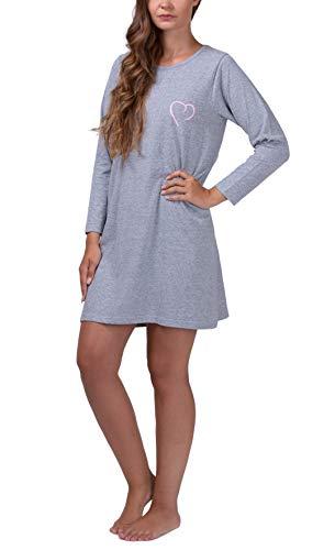 Moonline - camisón Corto de Mujer 100% algodón, Tallas: S-4XL
