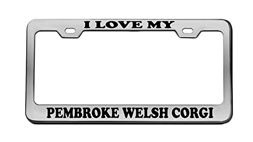 I Love My Pembroke Welsh Corgi Animal Chrome...