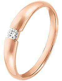 CHRIST Diamonds Damen-Ring #NV 375er Roségold 1 Diamant ca. 0,08 ct. (rosé)