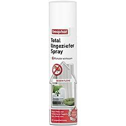 Total Ungeziefer Spray | Umgebungsspray gegen Flöhe | Auch gegen Zecken, Läuse, Herbstgrasmilben etc. | Für ca. 30 m² | 6 Monate wirksam | 400ml
