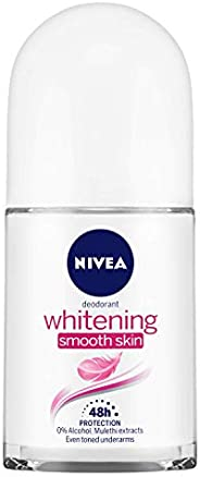NIVEA Deodorant Roll-on, Whitening Smooth Skin, 50ml