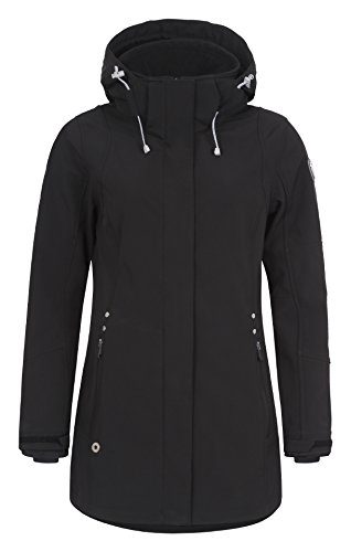 LUHTA–Bodil–Manteau pour femme, Parka, Veste demi-saison–Black noir