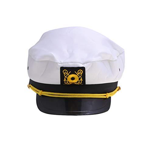 Kapitän Des Schiffes Kostüm - Amosfun Kapitänsmütze Kapitäns-Mütze Kapitän Kostüm Cosplay