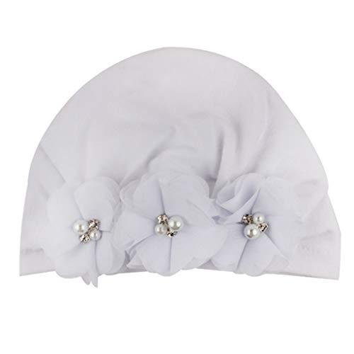 Cuteelf Baby Kinder Haarband Mädchen Stirnband Kopfband Blumen Blüte Haarschmuck Hairband Neugeborenes Junge Blumendruck Blumen Hut Warme Unschuldige Mütze Hut Kopfschmuck Mütze