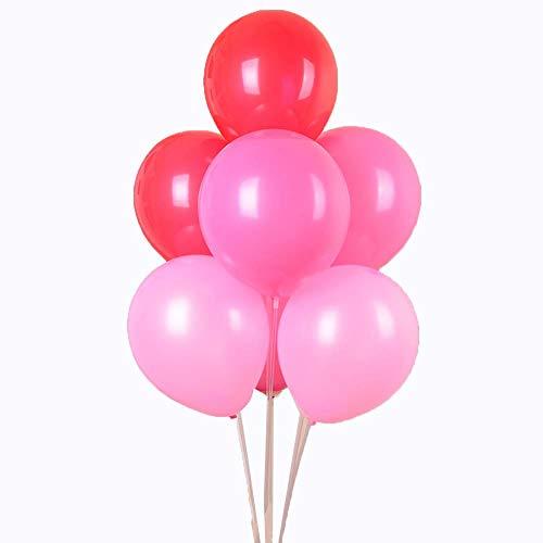 angement Party Luftballons Großhandel Hochzeit Hochzeit Hochzeit Zimmer romantische Ballon Dekoration 1,8 Gramm rotes Licht Rose tiefes Pulver 90 ()
