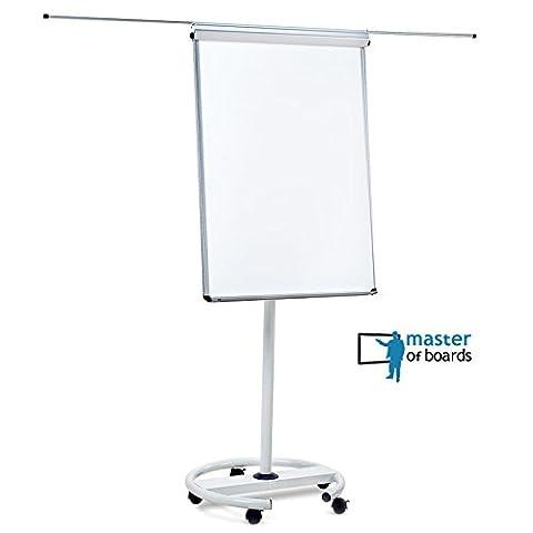 Panneau Affichage Sur Pied - Chevalet de conférence Master of Boards® blanc