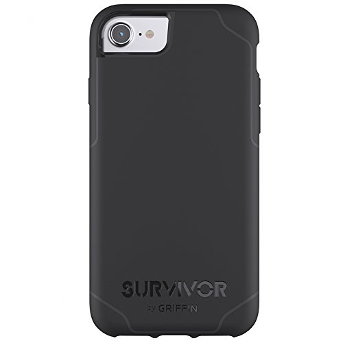 Griffin Survivor Summit Custodia per iPhone 7/7 Plus, Nero Nero/Grigio Scuro