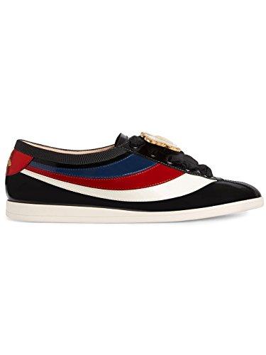Gucci Mujer 4936870B9101082 Negro Cuero Zapatos