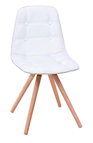 13Casa Edera A18 Set 4 sedie. Dim: 40x42x85 h cm. Col: Bianco. Mat: Ecopelle.