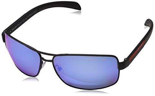 Prada Sport Herren 0PS54IS DG02E0 65 Sonnenbrille, Schwarz (Black Rubber/Polar Grey Water),