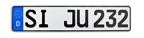 1 Stück EU Kfz Kennzeichen / Nummernschild 520 X 110 mm