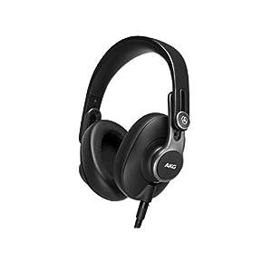 AKG K371 Over Ear Closed Back Foldable Studio Headphones,Black