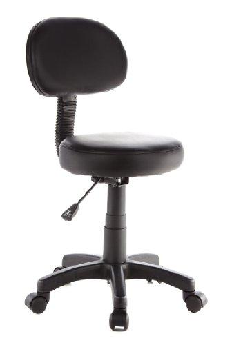 hjh OFFICE 685275 Drehocker Arbeitsstuhl DISC PLUS schwarz, leicht zu reinigen, pflegeleichter Sitz, vielfach einsetzbar, wertig verarbeitet, ohne Armlehnen, Bürostuhl, Drehstuhl (Bremse Reinigen)