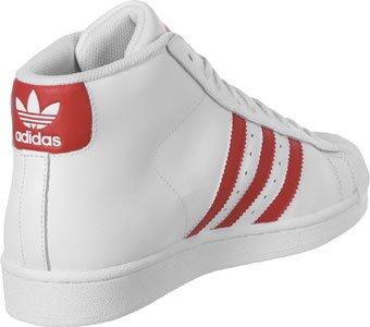 Adidas Pro Model, Scarpe a Collo Alto Uomo bianco rosso