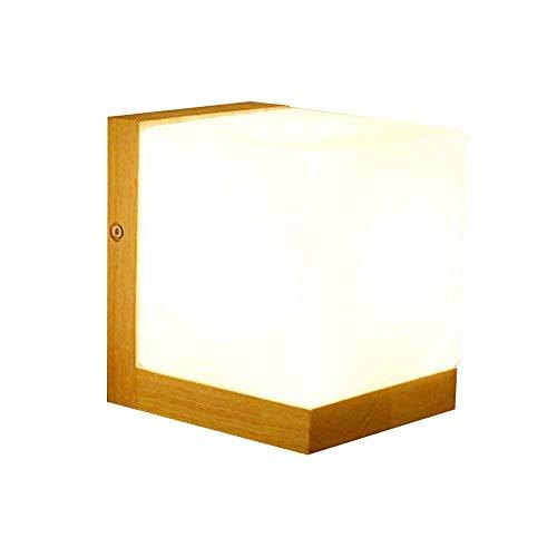 Weinlese-hölzerne Wandlampen, industrielle Wandleuchter E27 mit Glasschirmen für Wohnzimmerschlafzimmerkorridor -