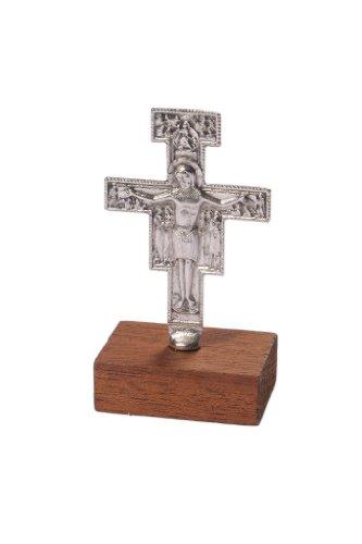 Franziskaner Kruzifix, Stehend, Metall, Damiano San Kreuz 8cms high.Franciscan Kreuz.