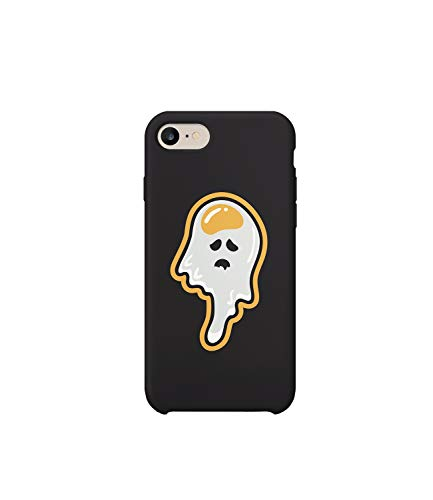 3657e740e1 GlamourLab Ghost Egg Funny Halloween Joke Version R3249 Protective Case  Cover Hard Plastic Compatible with for iPhone