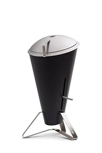 höfats - Holzkohlegrill CONE | Edelstahl | Designgrill | BBQ Grill | Holzkohlegrill | stufenloser Hitzeregulierung | mit Deckel | Feuerkorb | Schwarz