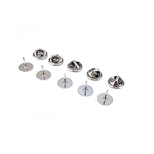 Krawatte Tack Schmetterling Pin Kupplung zurück Ersatz mit Blank Pins für Handwerk Making Pack von 50