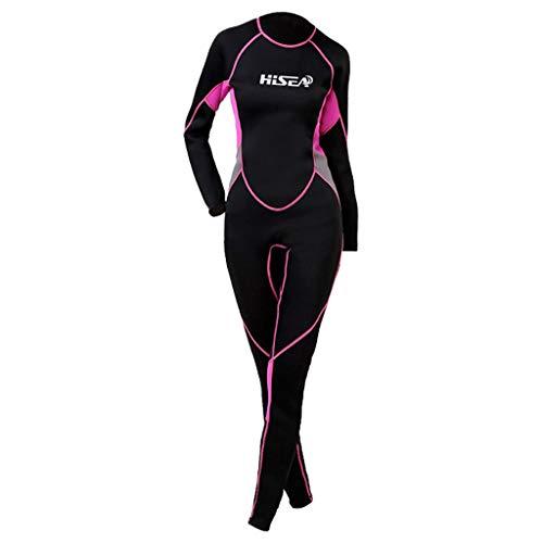 AIni Damen Neoprenanzug,Wetsuit Schwimmen Surfanzug Surfen Tauchen Sport Badeanzug 2.5MM Sunblock Neoprenanzug für Tauchen Surfen Schwimmen Voll B(XS,Schwarz)