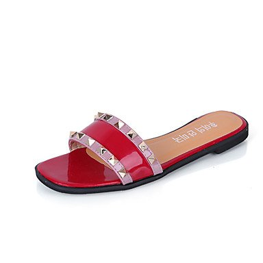 Donne'spantofole & flip-flops Estate Mary Jane similpelle Abito casual tacco piatto rivetto a piedi US7.5 / EU38 / UK5.5 / CN38