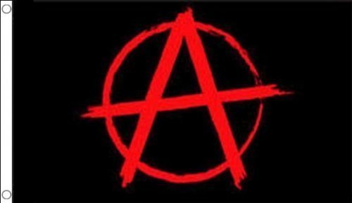 5ft x 3ft (150x 90cm) Anarchy anarchistischer schwarz & rot 100% Polyester Material Flagge Banner Ideal für Pub Club Party Dekoration Picture