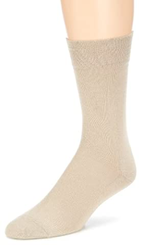 Hudson RELAX COTTON Herren Socken, Baumwollsocken Herren ohne Gummibund, Männersocken mit verstärkter Sohle (sportlich, viele Farben) Menge: 1 Paar, Beige (Linnen 0748), Gr. 47-48