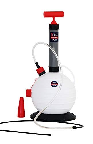 Pela 6000 Estrattore Olio Motore Macchina Fuoribordo Cambio Olio Gasolio Diesel Pompa Liquido Freni 6 Litri Estrattore Olio Pompa Aspirazione Petrolio Pompa Manuale Pompa Aspirazione Manuale