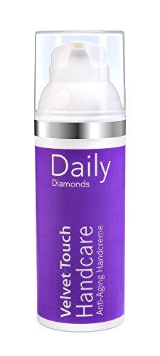 Daily Diamonds Velvet Touch Hand Care – 50 ml – Crème pour les mains avec SPF Soigne les mains naturel Velouté Sans Film de graisse Anti Dark Spots également contre les taches sombres sur les mains