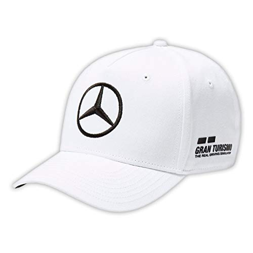 Mercedes AMG F1 Team Driver Puma Hamilton Baseball Gorra Blanco Oficia