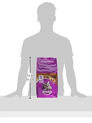 Whiskas 1+ Cat Complete Dry with Beef, 2 kg - Pack of 4