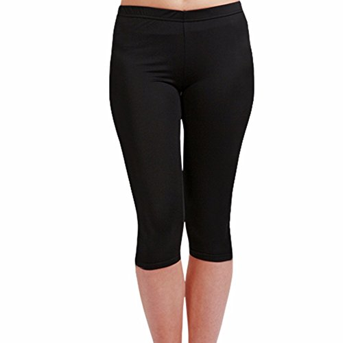 Compression Footless Tights Leggings for Women Girls Capri Cropped Base Layer EC