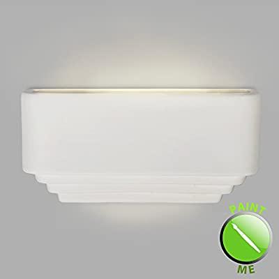 Modern White Ceramic Four Layer Effect Up / Down Flush Wall Wash Light