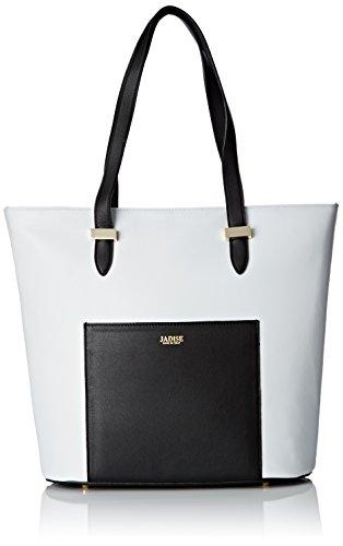 Jadise Elena, Borsa Tote Donna, Bianco (Bianco/Nera), 10x32x32 cm (W x H x L)